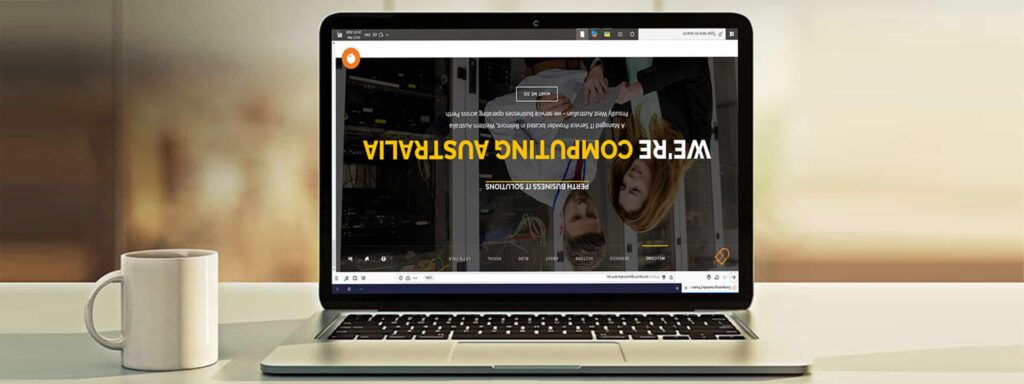 Why is my screen upside down?-5 Minute HelpDesk | Computing Australia