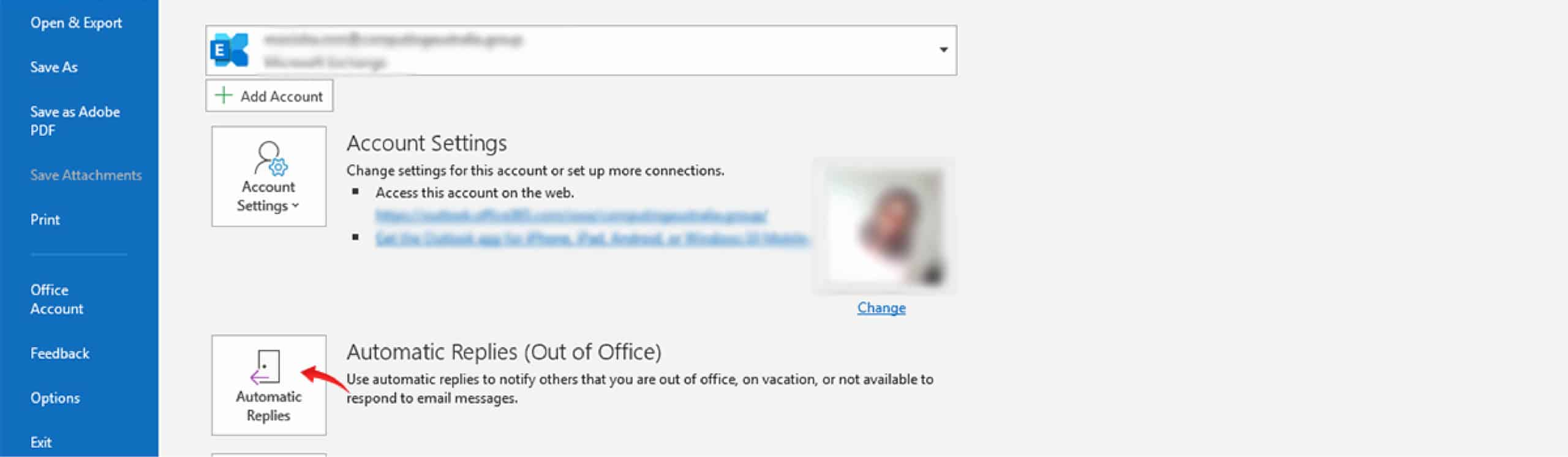 How do I set an out of office reply in Outlook | Computing Australia