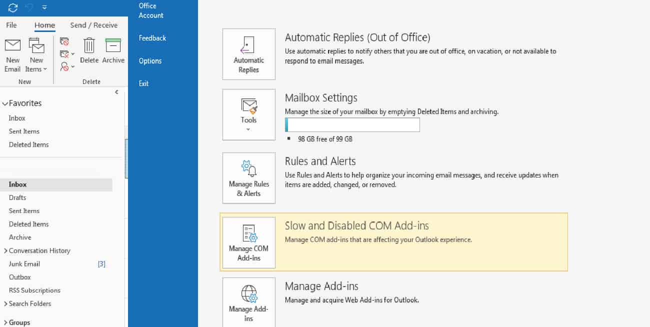 Archive older items automatically in Office – 5 Minute Help Desk