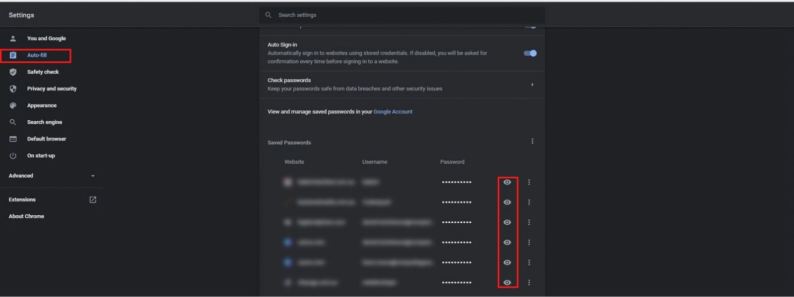 How to manage passwords in Chrome browser   Computing Australia